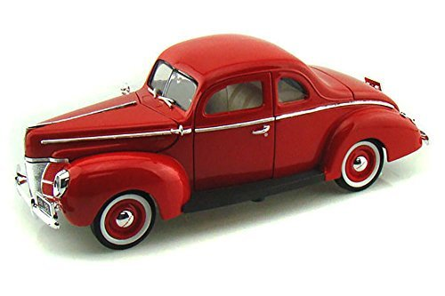 1940 Ford Coupe Deluxe, Red - Motormax 73108 - 1/18 Scale Diecast Model Toy Car