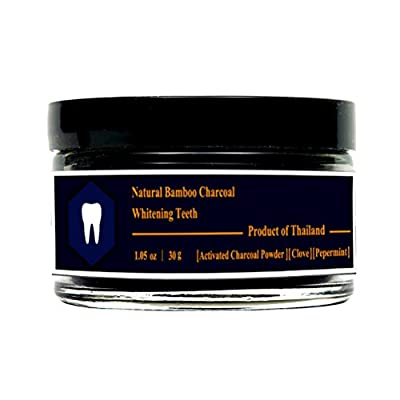 100% Natural Activated Bamboo Charcoal Whitening Teeth Tooth Powder Pepermint Clove Clean ??Bright Halal Toothpaste 30g (1.05oz)