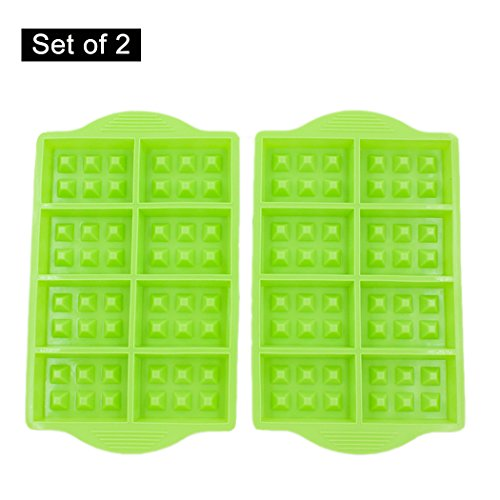 8-Cavity Silicone Waffle Stick Pan, Nupico Waffle Cone Bowl Mold, Cookie, Chocolate, Candy and Gummy Mold, Baking Mold Tool -