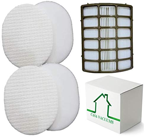 Casa Vacuums Shark Navigator Professional 2 Foam Filter Kits and 1 HEPA Filter fits NV80, NV70, NVC80C, UV420, NV90 Part # XFF80 & XHF80 by Casa Vacuums