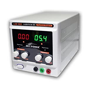 McPower LAB-3003 - Fuente de alimentación regulable, para laboratorio, máximo 90 W, pantalla LED, con ventilador
