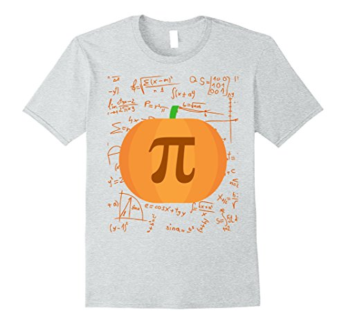 Mens Pumpkin pi - Halloween costumes for math teacher Small Heather Grey - Pi Day Costumes