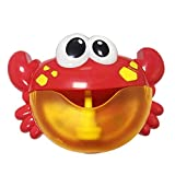 Silveroneuk bubble toy Red Plastic Crab Bubble Machine Music Bubble Maker Baby Bath Shower Fun Toy