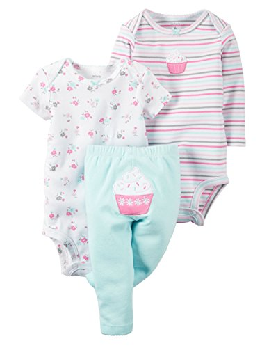 Carter's Baby Girls Take Me Away 3-Piece Little Character Set  -Newborn -Blue Cupcake ()