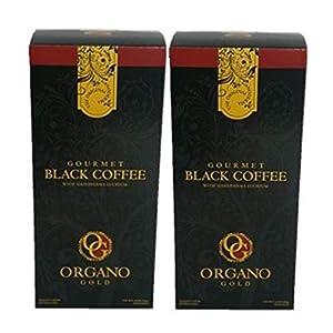 Organo Gold Gourmet Black Coffee – Café Noir with Certified Ganoderma Extract (30 Sachets) (2) 41hO5eeBSFL