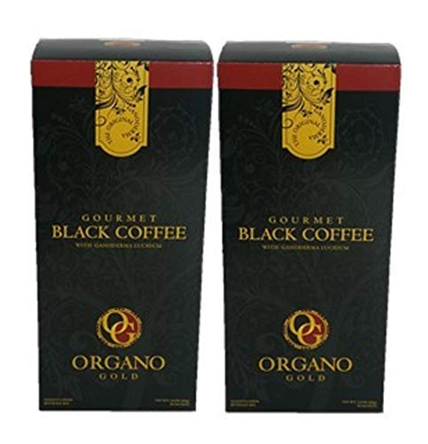 Organo Gold Gourmet Black Coffee – Café Noir with Certified Ganoderma Extract (30 Sachets) (2) 41hO5eeBSFL