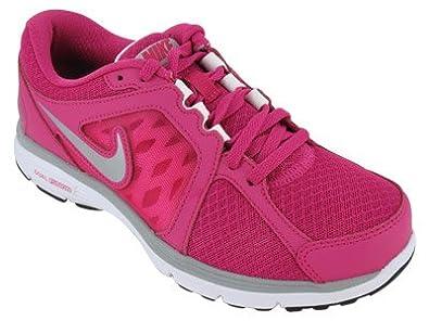 san francisco c504e afcd2 Women s Nike Dual Fusion Run Running Shoe FIREBERRY WHITE MATTE SILVER METALLIC  SILVER