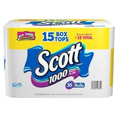 Scott CW-543303-36 Scott Toilet Paper - 36 in Case