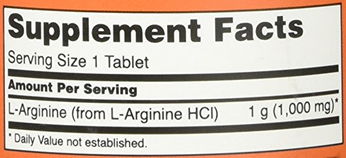 NOW Foods L arginine 1000mg, 120 Tablets