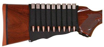 Allen 206 Buttstock Rifle Cartridge Holder, Black, Holds 6