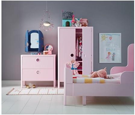 Ikea BUSUNGE - Armario, Rosa Claro - 80x139 cm: Amazon.es: Hogar