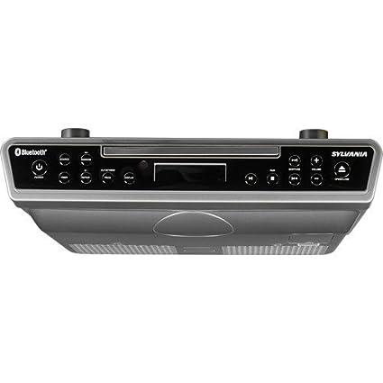 Amazon.com: Sylvania Under the Cabinet Bluetooth Wireless CD Kitchen ...