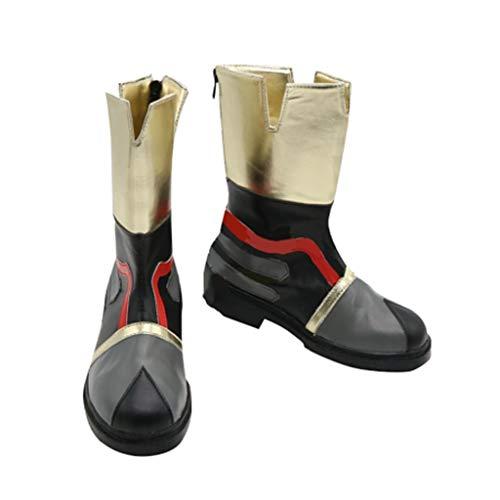 DUNHAO COS Anime Kingdom Hearts Sora Ventus Roxas Halloween Cosplay Custom Shoes Boots Male US 7/EU39 Black -