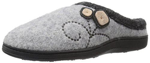 Acorn Women's Dara Slipper, Light Grey Button, Large/8-9 M US
