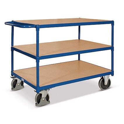 Gran mesa carro, 3 superficies de carga, superficie de carga 1200 ...