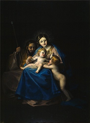 Polyster Canvas ,the Best Price Art Decorative Prints On Canvas Of Oil Painting 'Goya Y Lucientes Francisco De The Holy Family 1788 90 ', 10 X 14 Inch / 25 X 35 Cm Is Best For Basement Decoration And Home Decor And Gifts (Best Debt Collection Techniques)