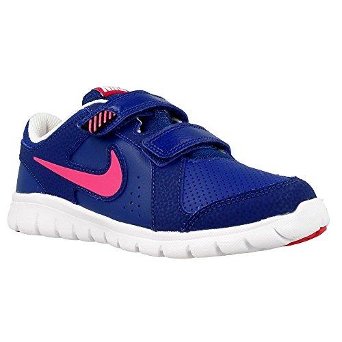 Nike Flex Experience Ltr (Psv), Zapatillas de Deporte para Niñas Azul / Rosa / Blanco (Insignia Blue / Vivid Pink-White)