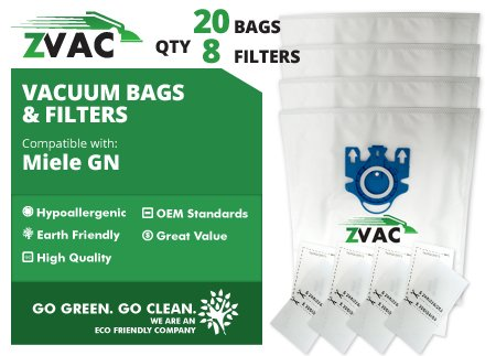 Miele ZVac GN Vacuum Bags (20pk) (Gn Miele Vacuum Bags compare prices)