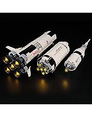 icuanuty LED-belysningsset för Lego – idéer – Apollo 11 kompatibel med Lego 21309 byggklossar modell (utan lego-set)