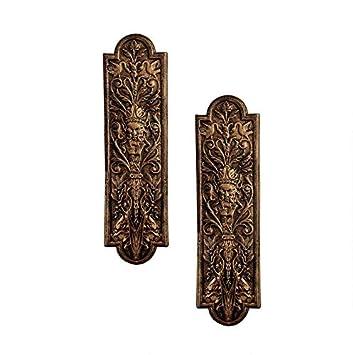 Design Toscano Greenman Door Plates