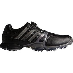 Adidas Mens Powerband Tour Boa Golf Shoes Black Medium 10