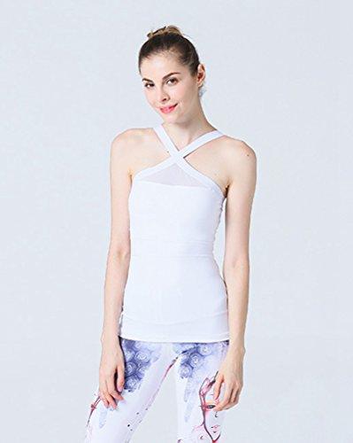 Binhee Femmes Vêtements de Yoga Gilet Sport Fitness Flexibilité Gilet sans Manches