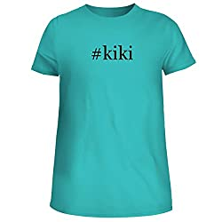 Kiki Cute Womens Junior Graphic Tee Aqua X Large