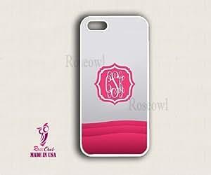 Monogram iPhone Case - Pink Grey Pattern Polygone iPhone 5 Case,iPhone 5 Case...