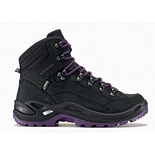 sale lowest price geniue stockist cheap price Lowa Women's Renegade GTX Mid Hiking Boot Black Blackberry buy cheap top quality finishline cheap price BYJmkE6pMw