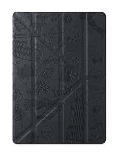 Ozaki O!Coat Travel Slim-Y - Funda para tablet iPad Air (Altavoces incorporados, Soporte de sobremesa), negro