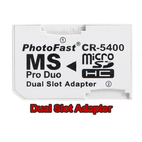 BephaMart Memory Card Dual SLOT Adapter Micro SD TF to MS PRO DUO Shipped and Sold by BephaMart (Costume Duos)
