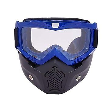 LARRRY Máscara de esquí Gafas de Modular Desmontable Boca ...