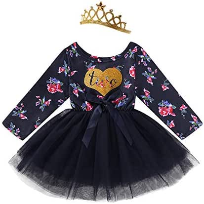 Shalofer Baby Little Girl Birthday Family Matching Mommy and Baby Floral Outfit Sets