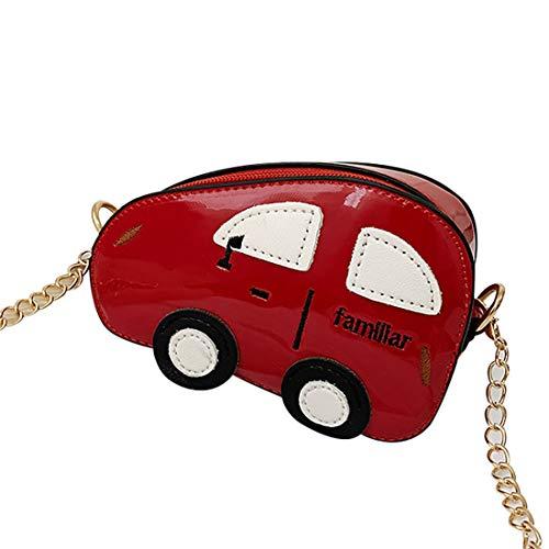 jiumoji Child Cartoon Car School Single-Shoulder Zipper Bag Mini Purse 4.3x5.9x2.4