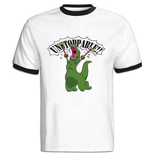 Dinosaur Unstoppable T-Rex Men's Contrast Color TShirt