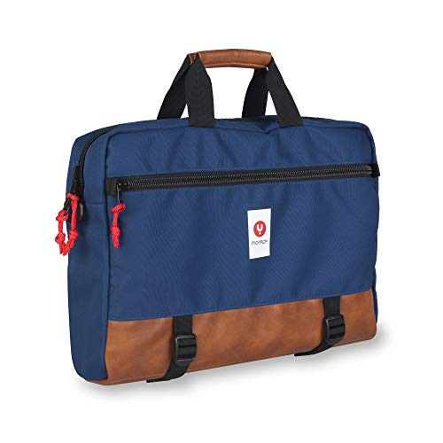 NGS Monray Spur- Case for Computers up to 15.6 inches, Blue and Leatherette, Padded, Compartments, Handles and Shoulder Bag ()