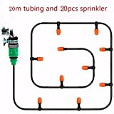 20 Meters 4/7mm hose Suit Home Garden Automatical Micro Drip Irrigation Watering Kit Micro Spray Suit Saving Irrigation Systems