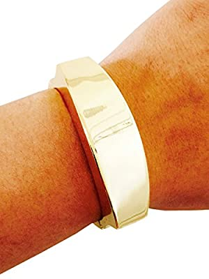 "Fitbit Bracelet for Fitbit Flex Activity Trackers - The TORY 8.5"" Inch Gold Bangle Fitbit Bracelet (8.5"" Gold)"