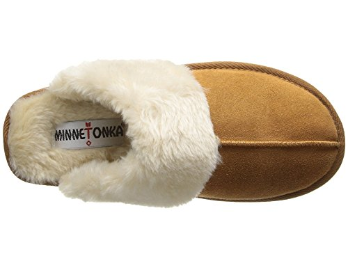 Women's Minnetonka Slipper Chesney Cinnamon Suede Scuff 0A4Zpw