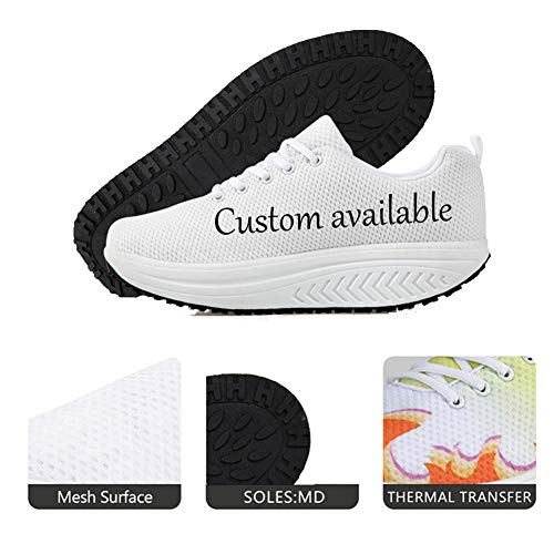 Toning Pattern Walking Shoes Platform Cool High Fitness Women's Bigcardesigns Sport 9 Sneaker IvZaTqwx