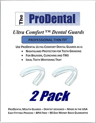 Mouth Guard for Grinding Teeth - 2 Pack | Thin and Trim Anti Grinding Night Guard - Teeth Whitening Dental Guard | Stops Bruxism, Teeth Clenching | No BPA, Made in USA | FDA Approved Material