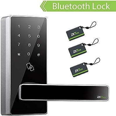 Smart Keyless Door Lock with Bluetooth Digital Keypad Password Door Locks  for Office Home+5 pcs RFID Cards (Zinc Alloy)