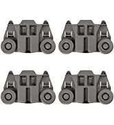 4 PACK W10195417 UPGRADED Dishwasher Wheels Lower Dish Rack Roller Wheel Assembly by AMI,Replaces...