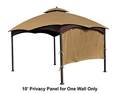 ALISUN Universal 10' Gazebo Privacy Panel - Brown