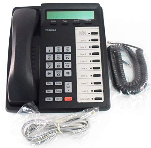 Toshiba DKT3010-SD 10 Button LCD Display Speakerphone -  (Black) (Renewed)