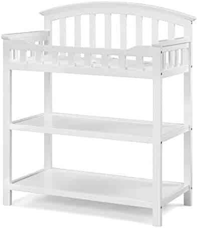 Graco Changing Table, White, Nursery Changing Table for Infants or Babies, Includes Water-Resistant Changing Pad and Safety Strap, Non-Toxic Finish