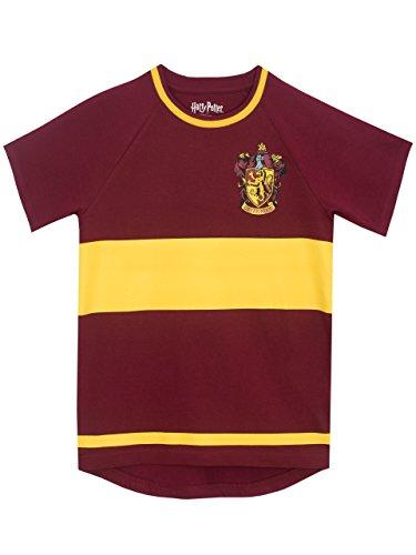 HARRY POTTER Boys Gryfindor Quidditch T-Shirt Size 12 -