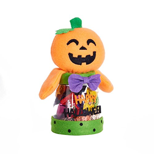 BESTOMZ Halloween Candy Jar Cookie Storage Box Chocolate Container for Party(Pumpkin)
