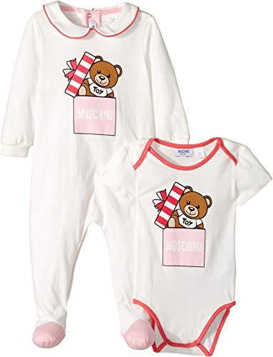 Moschino Kids Baby Girl's Teddy Bear Present Footie & Body Suit Gift Box Set (Infant) Pink 1-3 Months by Moschino Kids (Image #1)