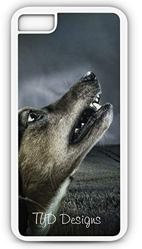 iPhone 8 Plus 8+ Case Howling Dog Barking Canine Puppy Customizable by TYD Designs in White -